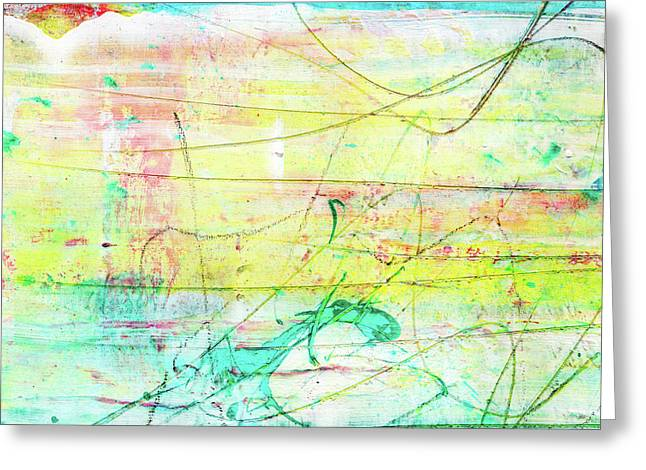 Colorful Pastel Art - Mixed Media Abstract Painting Greeting Card
