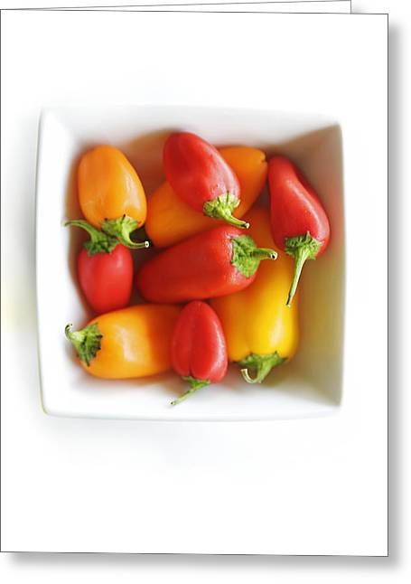 Colorful Peppers II Greeting Card