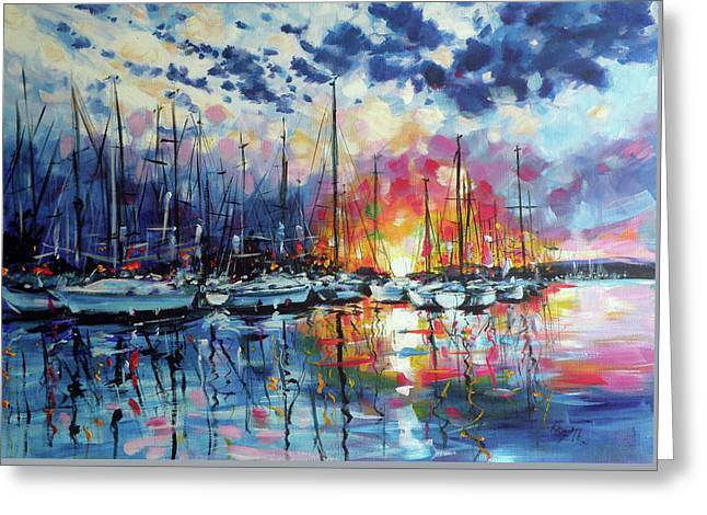 Colorful Port Greeting Card