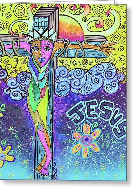 Colorful Prayers Greeting Card by Laura Barbosa