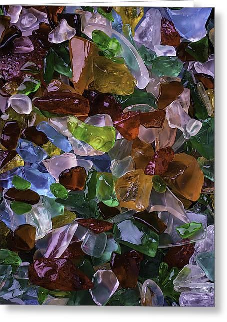 Colorful Pretty Sea Glass Greeting Card
