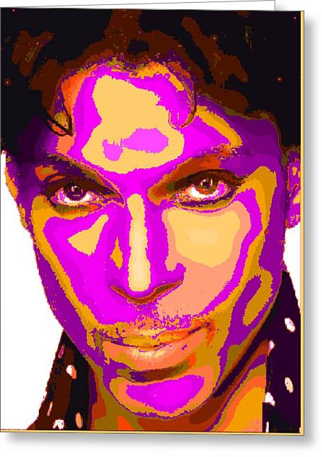 Colorful Prince - Purple Greeting Card