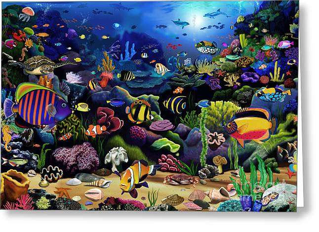 Colorful Reef Greeting Card