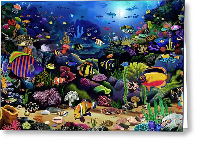 Colorful Reef Greeting Card by Gerald Newton