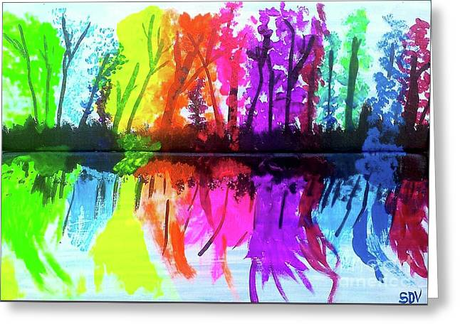 Colorful Reflections Of Autumn Greeting Card