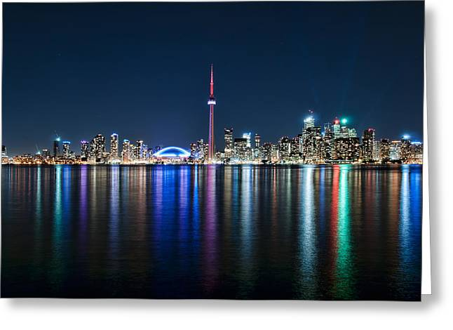 Colorful Reflections Of Toronto Greeting Card
