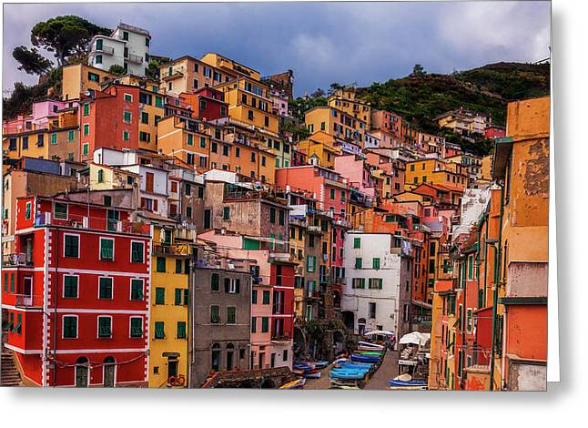 Colorful Riomaggiore Greeting Card