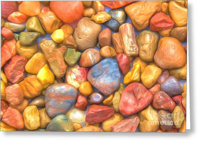 Colorful Rocks Greeting Card by Veikko Suikkanen