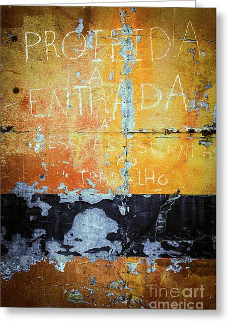 Colorful Rusty Art 1 Greeting Card by Carlos Caetano
