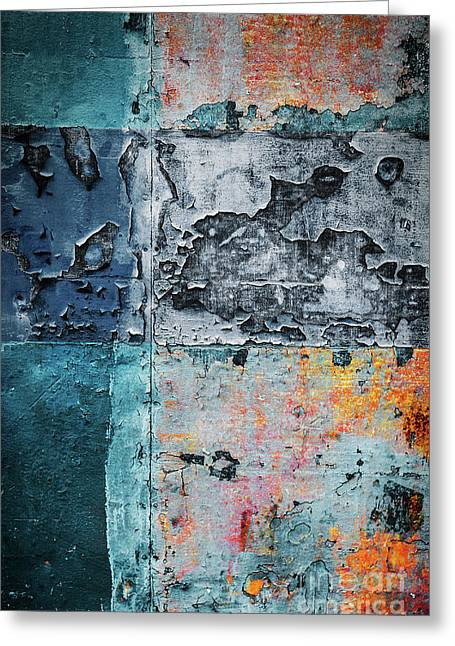 Colorful Rusty Art 3 Greeting Card by Carlos Caetano