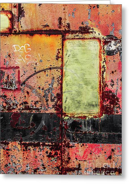 Colorful Rusty Art 4 Greeting Card by Carlos Caetano