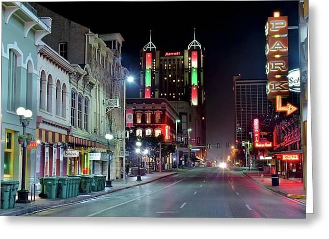 Colorful San Antonio Night Greeting Card