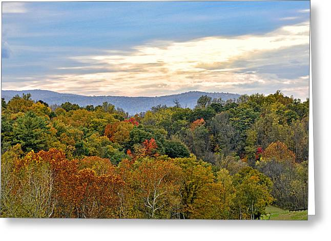 Colorful Shenandoah Valley Autumn - Virginia Greeting Card