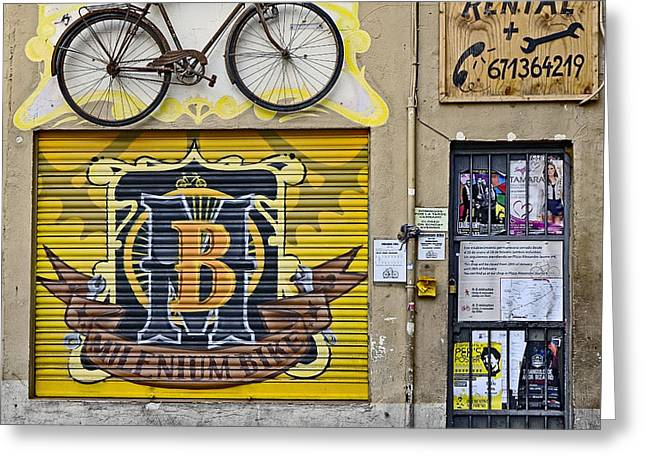 Colorful Signage In Palma Majorca Spain Greeting Card