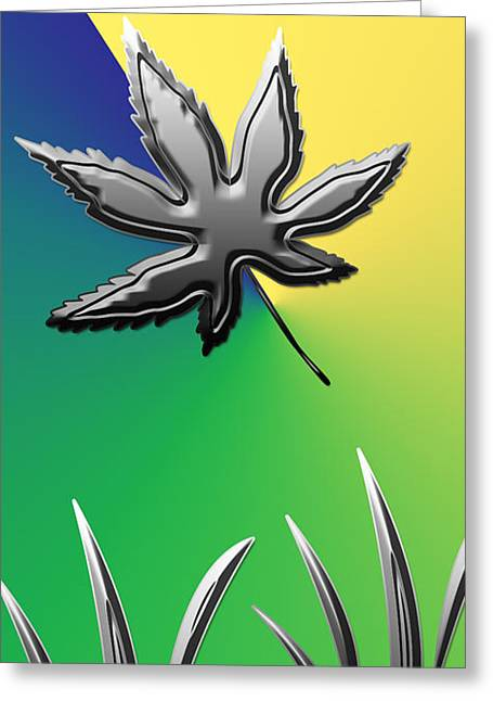 Colorful Silverleaf Abstract Greeting Card by Aimee L Maher Photography and Art Visit ALMGallerydotcom