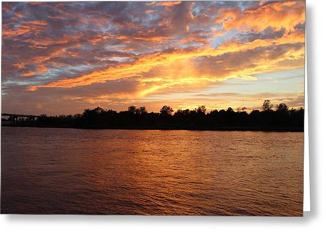 Greeting Card featuring the photograph Colorful Sky At Sunset by Cynthia Guinn