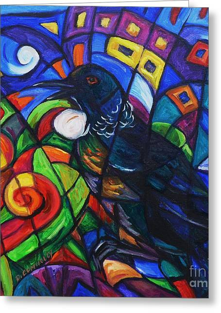 Colorful Song Of Tui Greeting Card