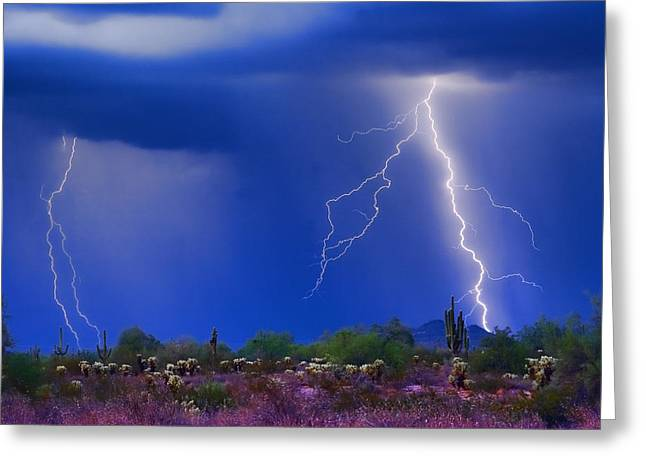 Colorful Sonoran Desert Storm Greeting Card by James BO  Insogna