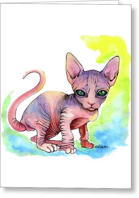 Colorful Sphynx Greeting Card