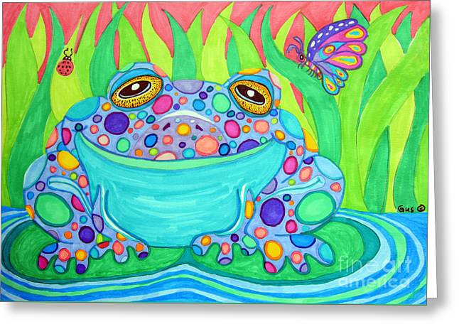 Colorful Spotted Frog Greeting Card