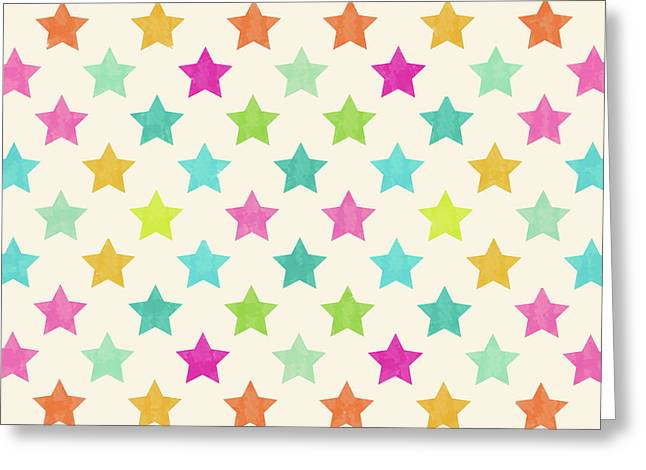 Colorful Star  Greeting Card