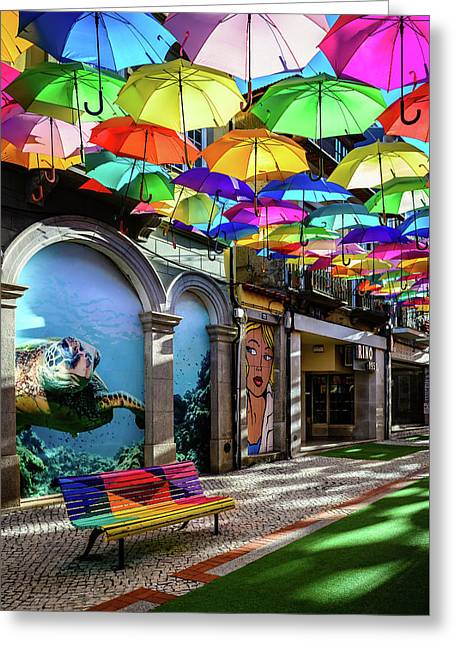 Colorful Street II Greeting Card by Marco Oliveira