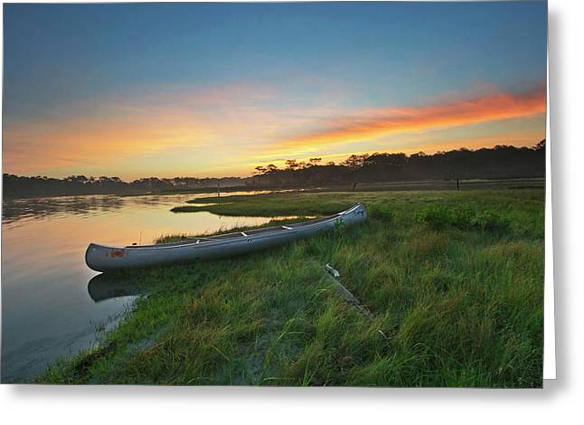 Colorful Sunrise - Assateague Island - Maryland Greeting Card by Brendan Reals