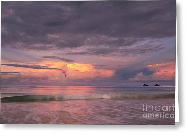 Colorful Sunset At Kailua Beach Greeting Card