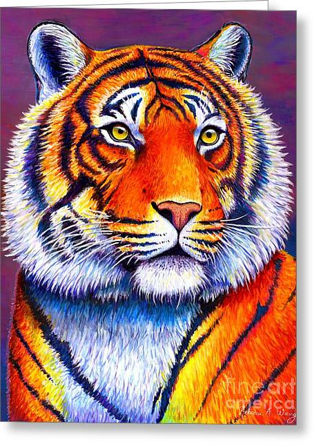 Fiery Beauty - Colorful Bengal Tiger Greeting Card