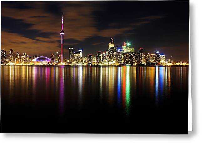 Colorful Toronto Greeting Card by Matt  Trimble