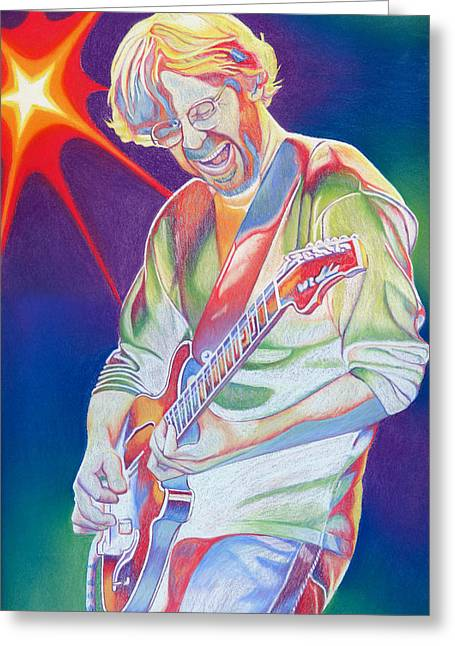 Colorful Trey Anastasio Greeting Card