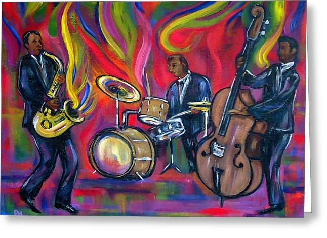 Colorful Trio Greeting Card by Pete Maier