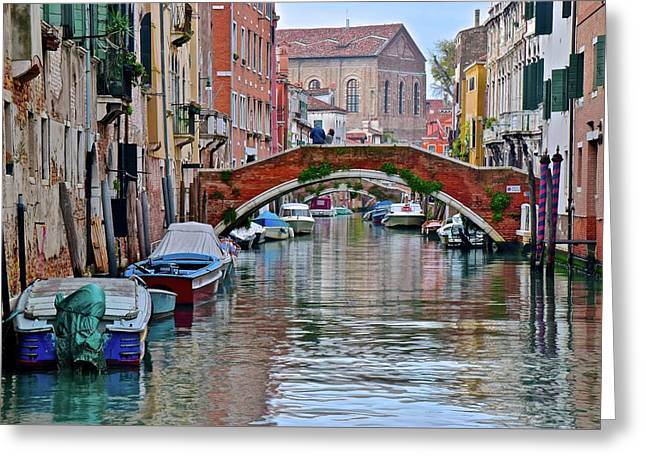 Colorful Venice Canal Greeting Card