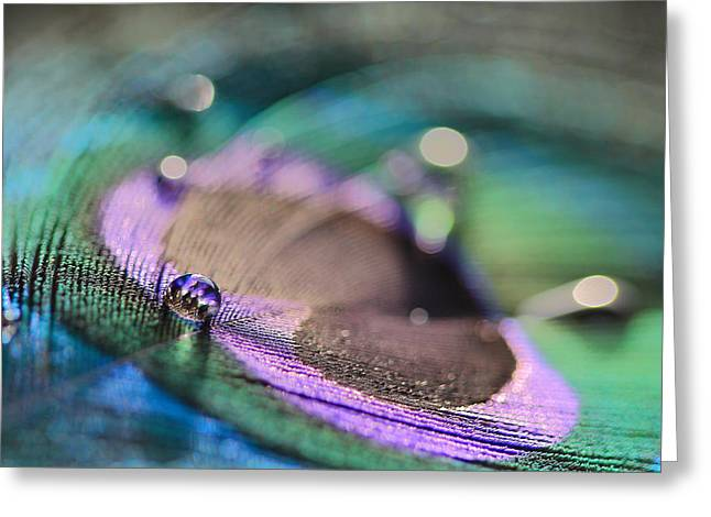 Colorful Water Droplet Greeting Card