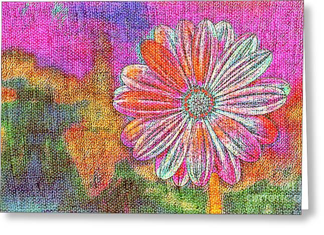 Greeting Card featuring the painting Colorful Watercolor Flower by Lita Kelley