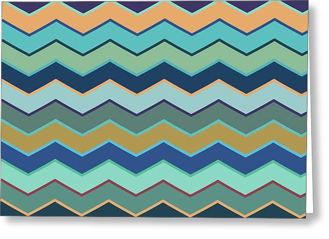 Colorful Wave II Greeting Card
