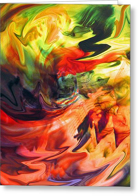 Greeting Card featuring the painting Colorful Waves by Jennifer Godshalk