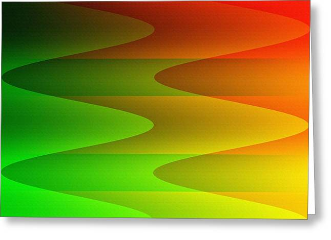 Greeting Card featuring the digital art Colorful Waves by Kathleen Sartoris