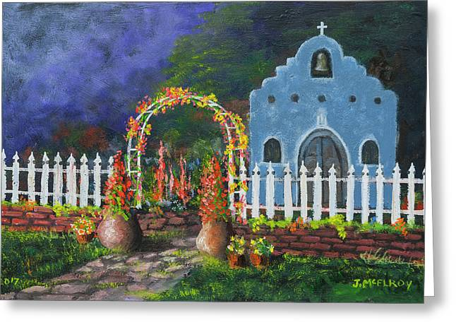 Colorful Welcome Greeting Card by Jerry McElroy