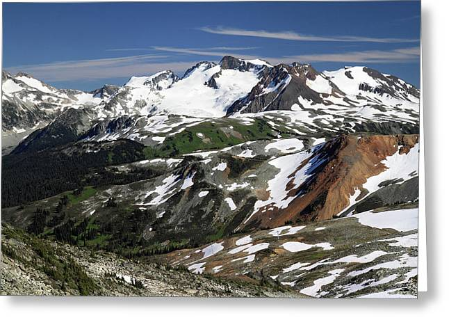 Whistler Greeting Cards - Colorful Whistler mountain summit scenery Greeting Card by Pierre Leclerc Photography