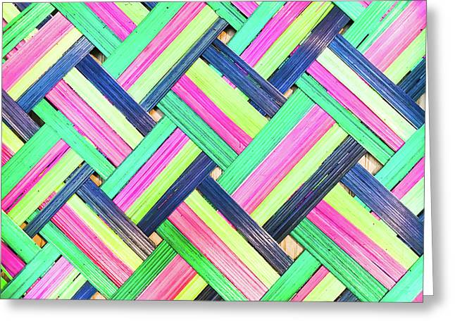 Colorful Wicker Greeting Card by Tom Gowanlock
