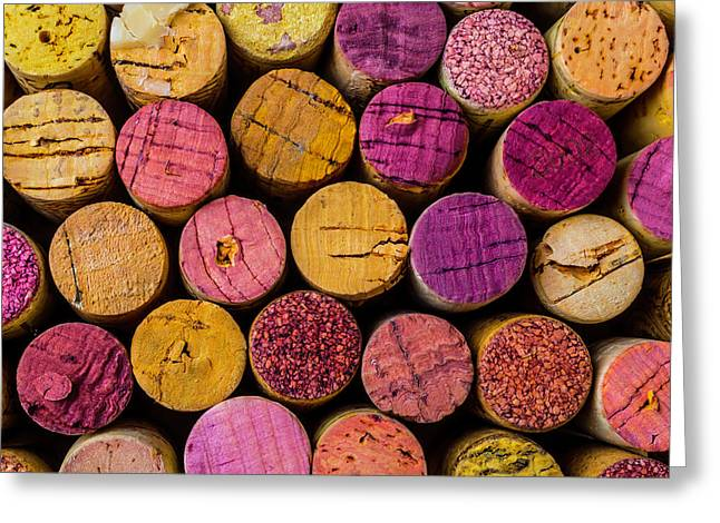 Colorful Wine Corks Greeting Card