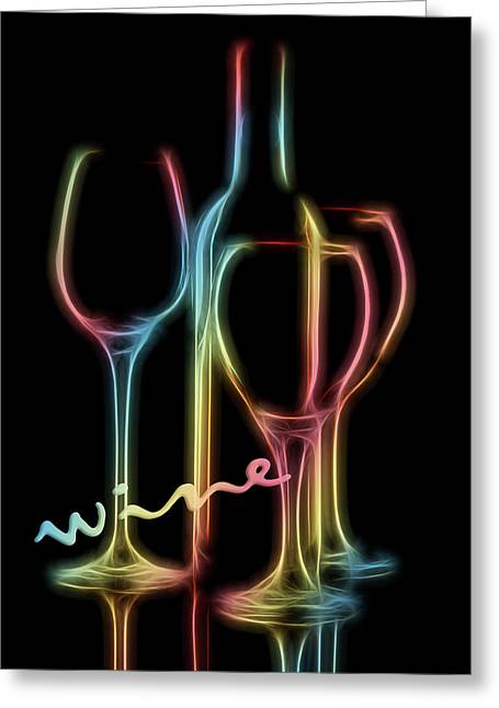Colorful Wine Greeting Card