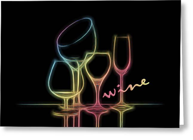 Colorful Wineglasses Greeting Card