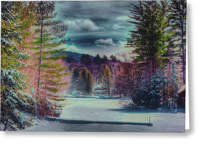Greeting Card featuring the photograph Colorful Winter Wonderland by David Patterson