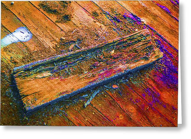 Colorful Wood Abstract Greeting Card