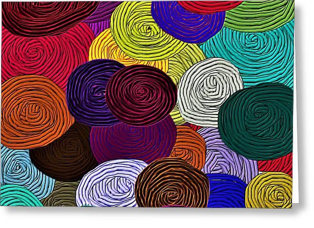 Colorful Yarn Art Greeting Card