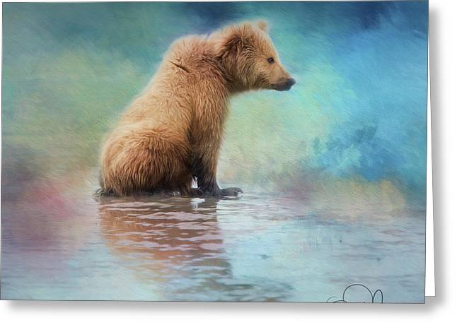 Colorfull Bear Greeting Card