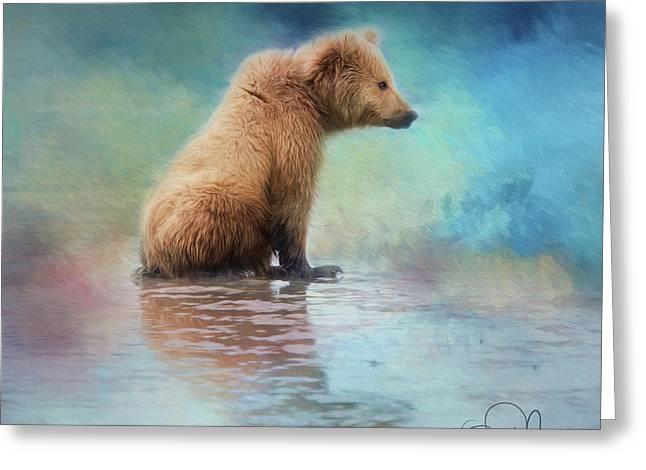 Colorfull Bear Greeting Card
