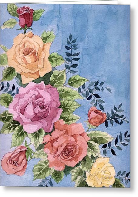 Colorfull Roses Greeting Card